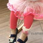 กางเกงเลกกิ้งแมวเหมียว-สีแดงแตงโม-(5-ตัว-/pack)