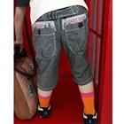 กางเกงขาสามส่วนเอวยืด-สีเทา-(5-ตัว/pack)