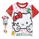 เสื้อยืดแขนสั้นHello-Kitty-สีขาวแดง-(6size/pack)