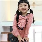 เสื้อแขนยาวคุณหนูระบาย-สีชมพู-(5-ตัว/pack)
