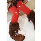กางเกงเลกกิ้งกระต่ายน้อย-สีแดง-(5-ตัว-/pack)