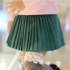 กระโปรงสั้นแฟชั่นคุณหนู-สีเขียว-(5-ตัว/pack)