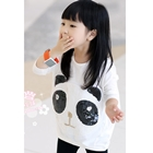 เสื้อแขนยาวหมีแพนด้า-สีขาว-(5-ตัว/pack)