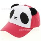 หมวกแก้ปหมีแพนด้า-สีชมพู--(5-ใบ/แพ็ค)