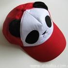 หมวกแก้ปหมีแพนด้า-สีแดง--(5-ใบ/แพ็ค)
