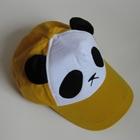 หมวกแก้ปหมีแพนด้า-สีเหลือง--(5-ใบ/แพ็ค)