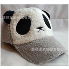 หมวกแก้ปแบบขนหมีแพนด้า-สีเทา--(5-ใบ/แพ็ค)