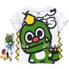 เสื้อยืดแขนสั้น-ไดโนเสาร์-สีขาว-(6size/pack)