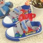 รองเท้าผ้าใบ-Warrior-สีฟ้า-(5-คู่/pack)-