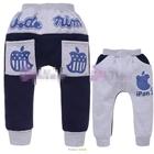 กางเกงขายาว-Apple-สีเทาน้ำเงิน-(5size/pack)