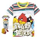 เสื้อยืดแขนสั้น-Angry-Bird-สีรุ้ง-(6size/pack)