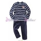 ชุดเสื้อกางเกงกวางน้อย-สีน้ำเงิน--(5size/pack)