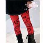 กางเกงเลกกิ้งลาย-HELLO-KITTY--สีแดง(5-ตัว-/pack)