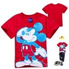 เสื้อยืด-Mickey-เริงร่า-สีแดง(6-ตัว/pack)