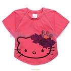 เสื้อยืดแขนสั้นแมวเหมียวคิตตี้สี-Rose-(6ตัว/pack)