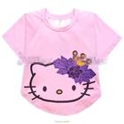 เสื้อยืดแขนสั้นแมวเหมียวคิตตี้สีชมพู-(6ตัว/pack)