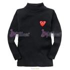 เสื้อแขนยาวหัวใจสีแดง--สีดำ-(6-ตัว/pack)