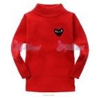 เสื้อแขนยาวหัวใจสีดำ--เสื้อสีแดง-(6-ตัว/pack)