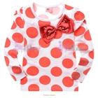 เสื้อแขนยาวสกรีนลายวงกลมสีส้ม-(6-ตัว/pack)