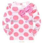 เสื้อแขนยาวสกรีนลายวงกลมสีชมพู-(6-ตัว/pack)