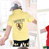 เสื้อโปโลแขนสั้น-Ferrari-สีเหลือง(5-ตัว/pack)
