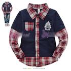 เสื้อแขนยาวหนุ่มนักเรียนนอก-สีน้ำเงิน-(5-ตัว/pack)