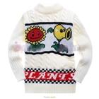 เสื้อกันหนาวแขนยาวดอกทานตะวัน-สีขาว(6-ตัว/pack)