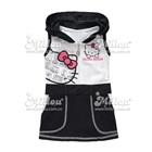 เดรสแขนกุด-Hello-Kitty-สีขาวดำ-(2size/pack)
