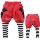 กางเกงขายาวโบว์ข้าง-สีชมพู-(5-ตัว/pack)
