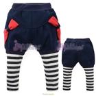 กางเกงขายาวโบว์ข้าง-สีน้ำเงิน-(5-ตัว/pack)