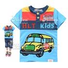 เสื้อยืดแขนสั้น-School-Bus-สีฟ้า-(5size/pack)