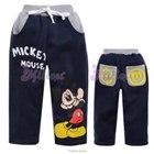 กางเกงขายาว-Mickey-สีน้ำเงิน(6size/pack)