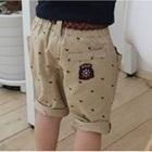 กางเกงขาสามส่วนสมอเรือ-สีน้ำตาล-(4size/pack)