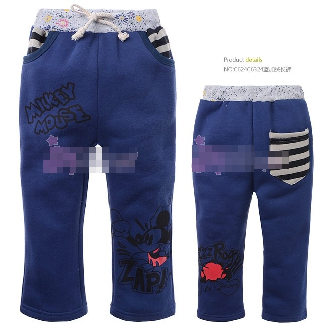 กางเกงขายาว-Mickey-Mouse-Zap-สีน้ำเงิน-(6size/pack)