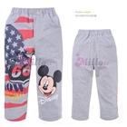 กางเกงขายาว-Mickey-Mouse-สกรีนธงชาติ-สีเทา-(6size/pack)