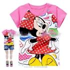 เสื้อแขนสั้น-Minnie-Mouseลายจุด-สีชมพู-(6size/pack)