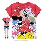 เสื้อแขนสั้น-Minnie-Mouseลายจุด-สีแดง-(6size/pack)