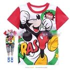 เสื้อแขนสั้น-Mickey-Mouse-ไชโย-สีแดง-(6size/pack)