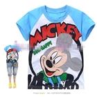 เสื้อแขนสั้น-Mickey-Sun-Happy-สีฟ้า-(6size/pack)