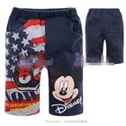 กางเกงขาสั้น-Mickey-Mouse-สกรีนธงชาติ-สีกรมท่า-(6size/pack)