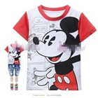 เสื้อแขนสั้น-Mickey-Mouse-Comic-สีแดง-(6size/pack)
