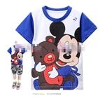 เสื้อแขนสั้น-Mickey-Mouse-กอดหมี-สีน้ำเงิน-(6size/pack)