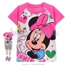 เสื้อแขนสั้น-Minnie-Mouse-หน้าหวาน-สีชมพู-(6size/pack)