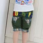 กางเกงขาสามส่วน-ABC-สีเขียวทหาร-(4size/pack)