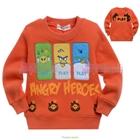 เสื้อแขนยาว-Angry-Birds-3-สหาย-สีส้ม-(5size/pack)
