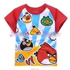 เสื้อแขนสั้นสุดยอด-Angry-Birds-สีแดง--(6size/pack)
