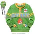 เสื้อแขนยาว-Angry-Birds-สุดหล่อ-สีเขียว-(5size/pack)