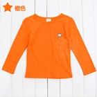 เสื้อแขนยาวหมีน้อย-สีส้ม-(5-ตัว/pack)
