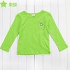 เสื้อแขนยาวหมีน้อย-สีเขียวนีออน-(5-ตัว/pack)