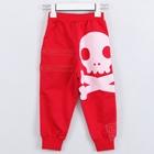 กางเกงขายาวหัวกะโหลก-สีแดง-(5-ตัว/pack)